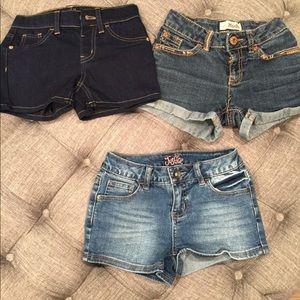 girl jean shorts